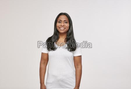 portrait of confident woman with black