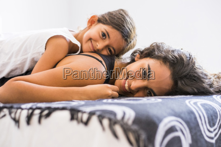 portrait of smiling teenage girl and