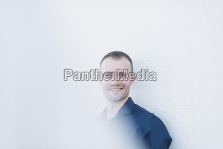 portrait of smiling businessman in