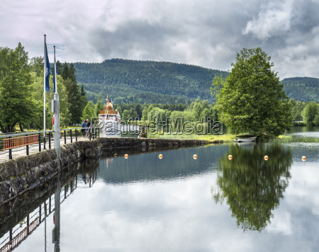 norway telemark canal lock lunde
