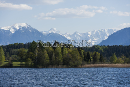 germany bavaria upper bavaria alps staffelsee