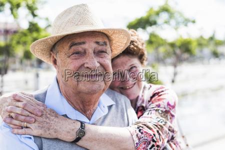 portrait of happy senior with his