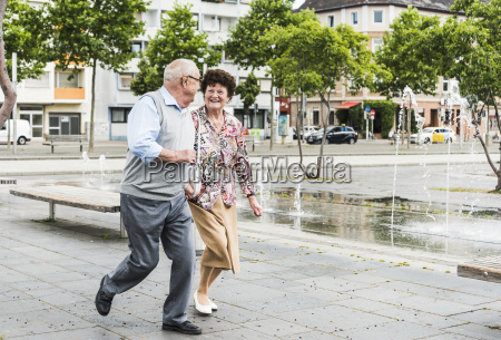 happy senior couple having fun together