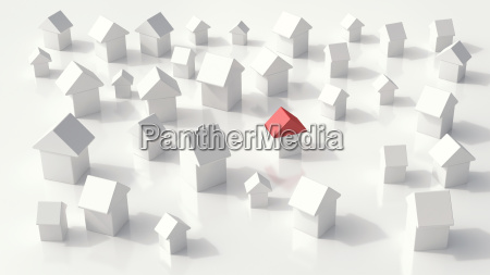 group of one family houses on
