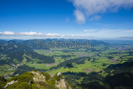 germany bavaria allgaeu panoramic view from