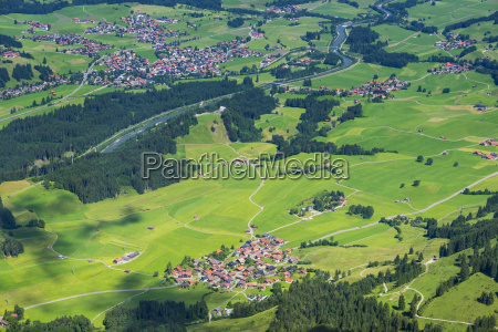 germany bavaria allgaeu panoramic view from