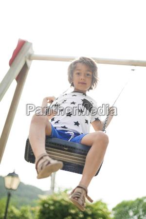 portrait of little boy on a
