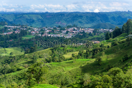 beautiful landscape and salento colombia