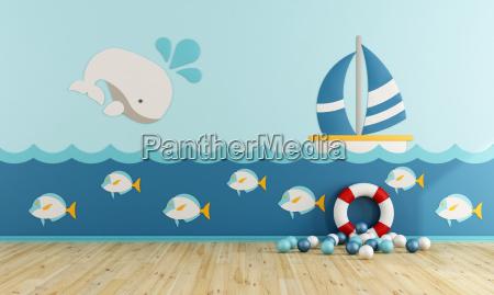 spielzimmer im marine stil