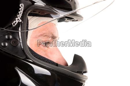 rennfahrer mit helm