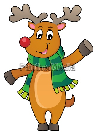 stylized christmas deer theme image 1