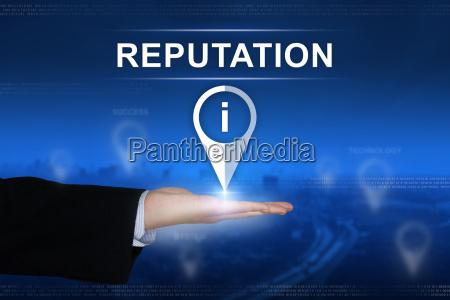 reputation button on blurred background