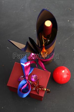 dekoration, von, flaschen, verpackungen, flaschen, wein - 19353422