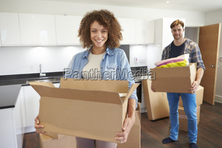 couple moving into new home and