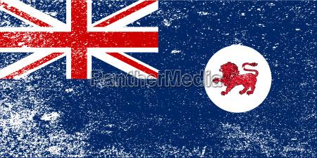 tasmania state grunge flag