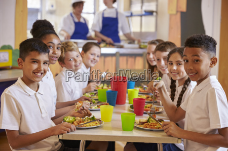 kids at a table in a