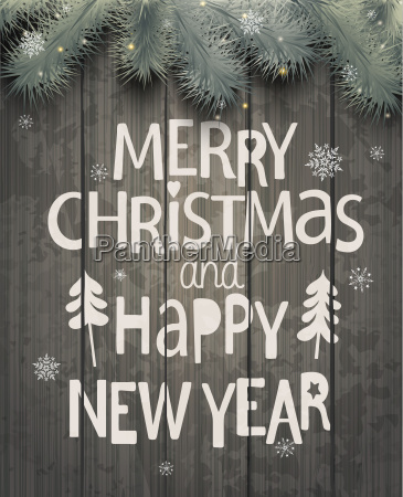 weihnachten und neujahr holiday greeting card