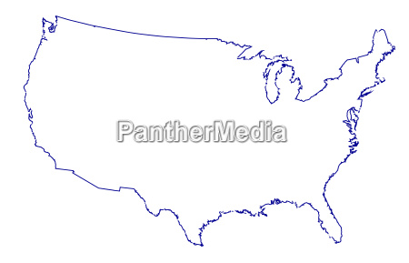 usa map thinline outline
