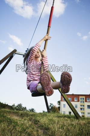 5 year old girl playing with