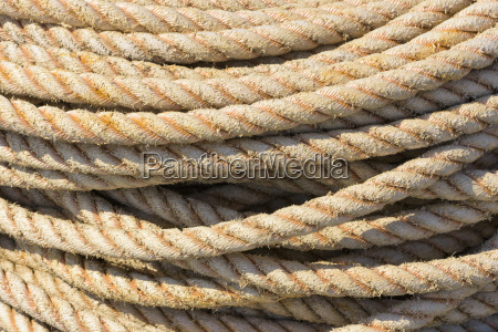 rope in harbor hirtshals north jutland