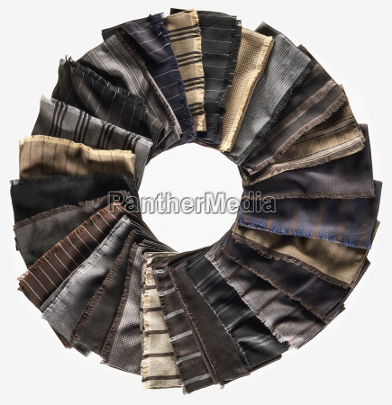 mens scarves placed in a circle