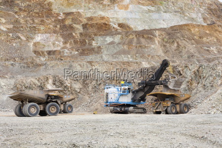 mining operations at copper mine near
