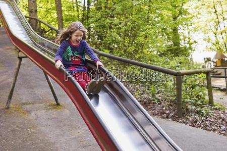 5 year old girl having fun