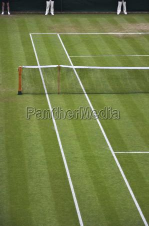 overview of tennis court wimbledon england