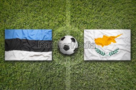 estonia vs cyprus flags on soccer