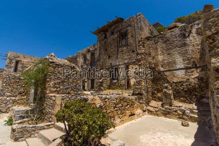 griechenland gemaeuer festung ruinen eiland insel