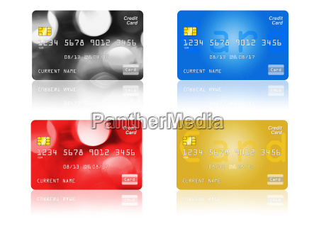 credit card on white background