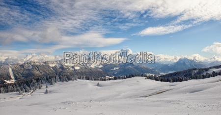 mountain landscape with snow