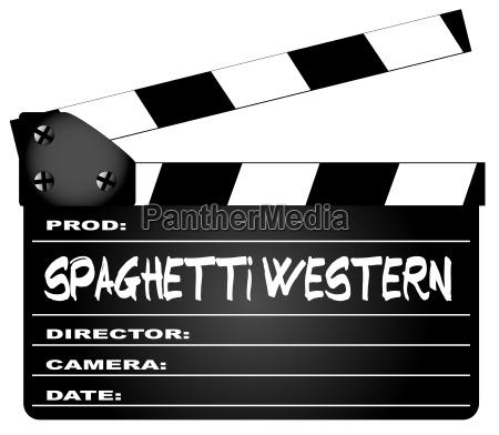spaghetti western movies clapperboard