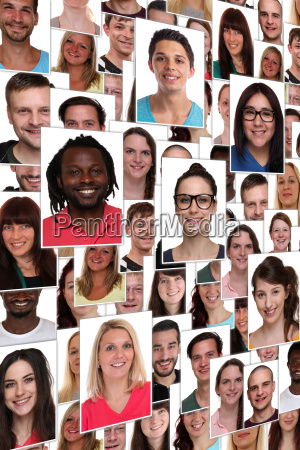 background people multicultural young happy laugh
