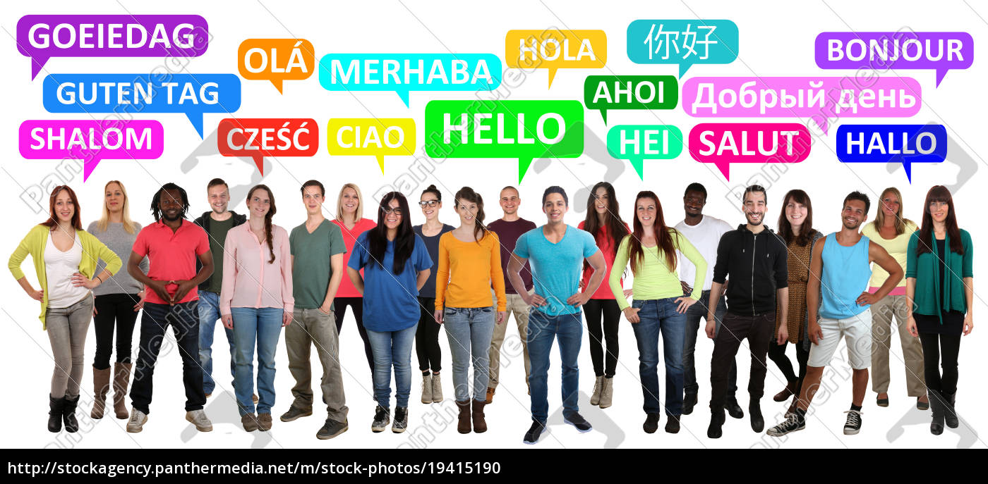 hallo, guten, tag, multikulturell, people, menschen - 19415190