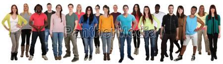 menschen, lachen, glücklich, multikulturell, people, große - 19415146