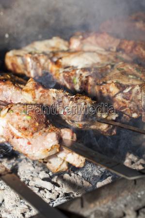 kochen kebab nahaufnahme