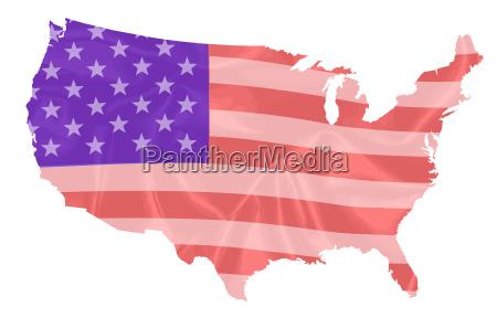 amerikanisch usa amerika illustration fahne sueden
