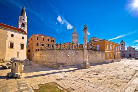 ancient landmarks of zadar view