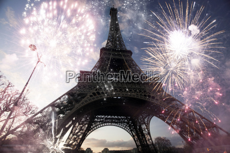 abstract background of eiffel tower with