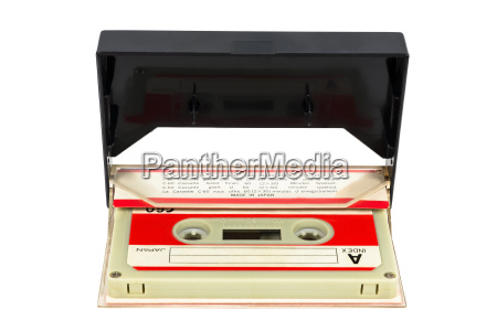 vintage audio tape in the box