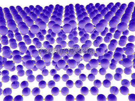molekulares modell der gestapelten schichten von