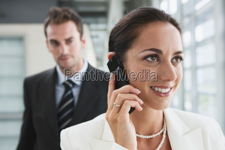 business women on phone