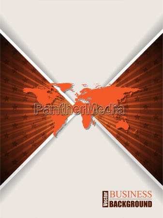 abstract orange brochure with stars and