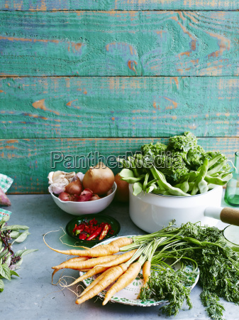 still life of raw fresh mint