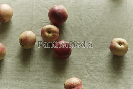 overhead view of fresh apples on