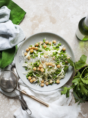 still life of salad plate with