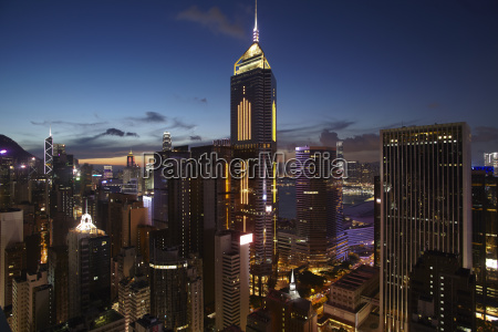aerial view of city at