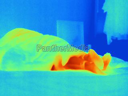 thermal image of young couple making
