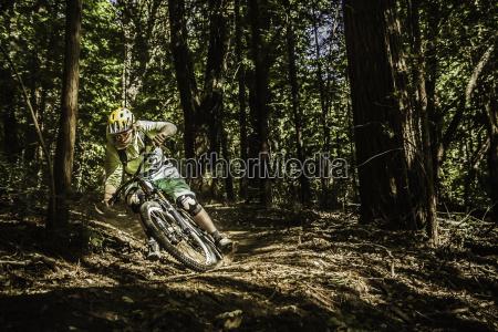young man mountain biking soquel demonstration